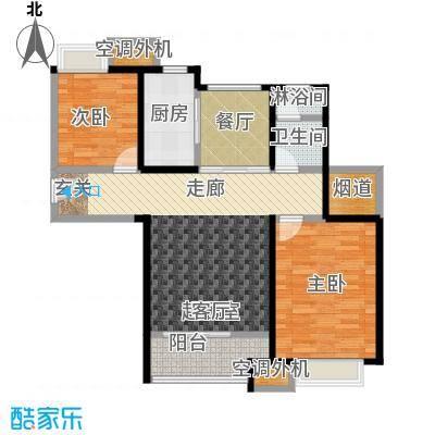 华发新城99.00㎡D1b户型 2室2厅户型