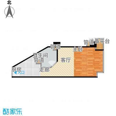 蠡湖国际公寓42.00㎡蠡湖国际公寓户型图A户型(4/4张)户型1室1厅1卫