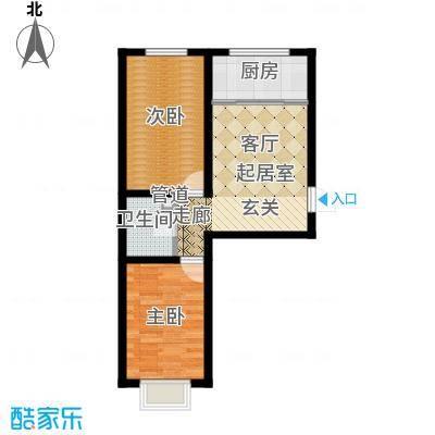 左岸阳光68.41㎡左岸阳光户型图两室一厅一卫(4/4张)户型10室