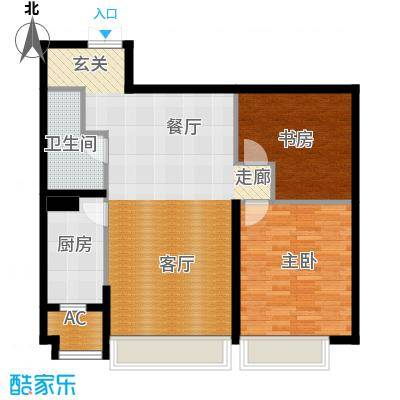 天津大都会161.00㎡2期2、3号楼标准层02户型3室2厅2卫