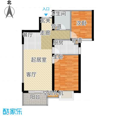 太原海唐广场88.00㎡5D户型 两室两厅一卫户型2室2厅1卫