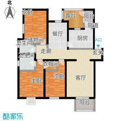 大宁山庄F-4顶层户型3室1厅2卫1厨