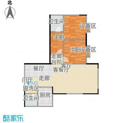 宸琪天和苑户型2室1厅2卫1厨