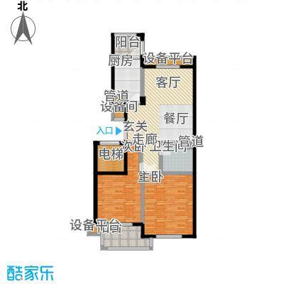 永佳苑一期L-1--户型2室1厅1卫1厨