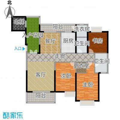 紫薇永和坊170.00㎡极境户型15号楼户型3室2厅2卫