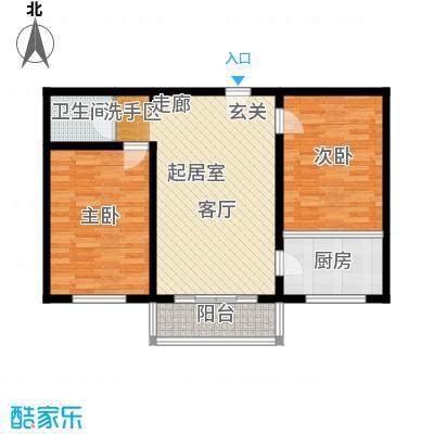 聚龙湾78.86㎡C2户型2室1厅1卫