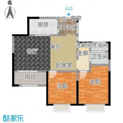 九龙仓玺园90.00㎡11号楼户型2室2厅1卫