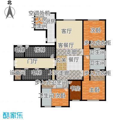 万达公馆380.00㎡3号楼三室二厅三位户型3室2厅3卫