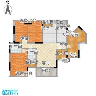 招商澜园户型图1,6,7,8,9栋 A单元(E+F户型) 四房两厅两卫(8/16张)
