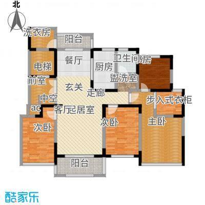 中茵星墅湾135.00㎡6号楼B户型3室2厅2卫户型3室2厅2卫