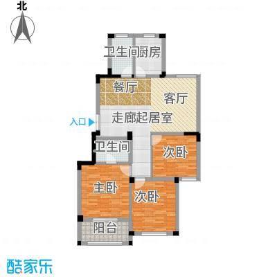金美林花园114.00㎡A2户型3房2厅2卫114平米户型3室2厅2卫