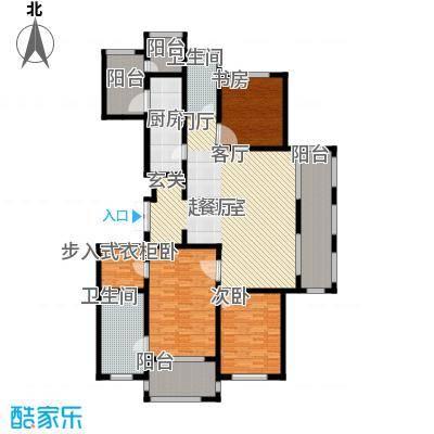 龙德花园176.00㎡二期D1户型三房三厅两卫176平米户型3室2厅2卫