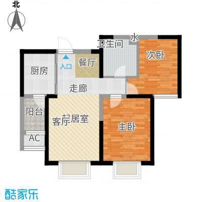 柴楼新庄园二室二厅一卫户型