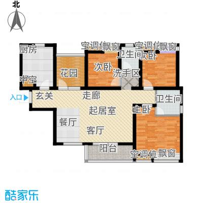 景瑞阳光尚城133.01㎡B3户型 4室2厅2卫户型4室2厅2卫