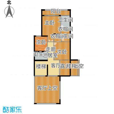 莲湖四季豪园31-37栋尊墅二层户型3室3卫