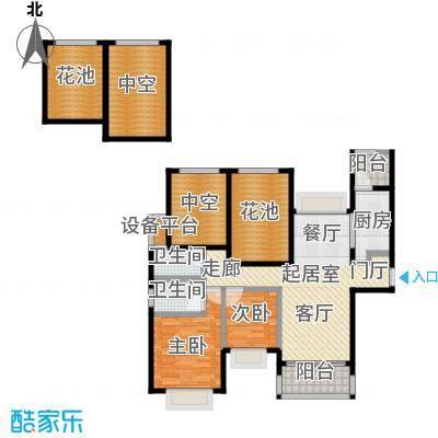 合景领峰110.00㎡C户型2室2厅2卫