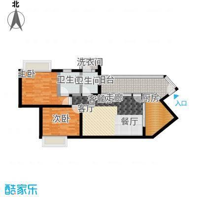 天御5号楼2-28层01、06号单位户型2室1厅2卫1厨