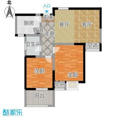 凤凰名城户型2室1厅1卫1厨