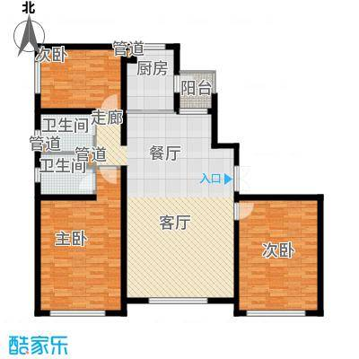 青橙部落青橙部落户型图三室一厅(4/5张)户型10室
