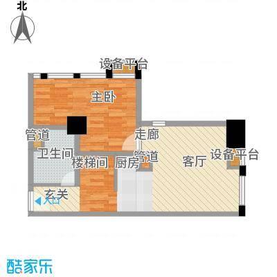 壹加壹空间65.39㎡壹加壹空间户型图A户型1层3室2厅2卫(4/4张)户型3室2厅2卫