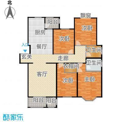 大宁山庄160.47㎡大宁山庄户型图二期F2四室两厅两卫(1/3张)户型10室