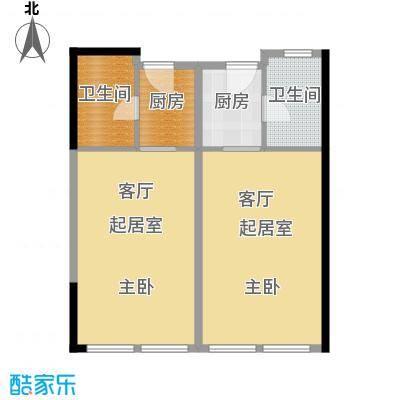 邦泰国际公寓86.00㎡10层06单元户型2卫2厨