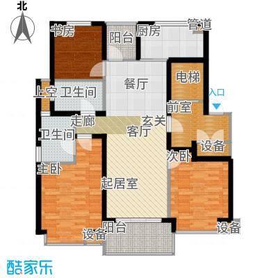 九龙仓雅戈尔铂翠湾112-117平米户型3室2厅2卫