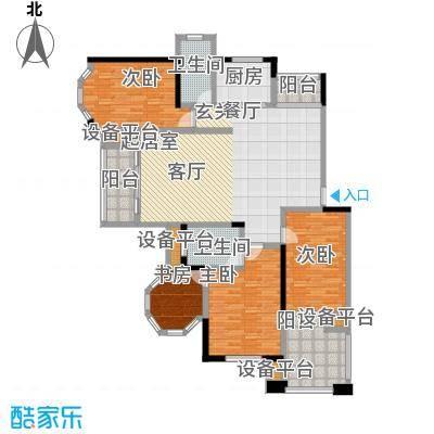 南天阳光152.60㎡南天阳光N013户型 三房两厅两卫 152.60平米 3室2厅2卫1厨户型