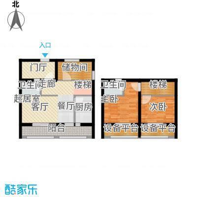 太奥广场80.05㎡项目LOFT房源户型A6户型3室2厅2卫