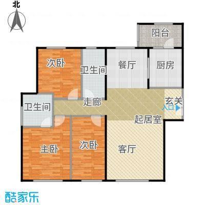 天润・香墅湾1号150.00㎡B户型3室2厅2卫