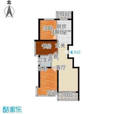 上东领海131.72㎡上东领海户型图三室两厅一卫(8/15张)户型10室