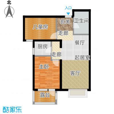 金隅・观澜时代85.00㎡G12`户型2室2厅1卫