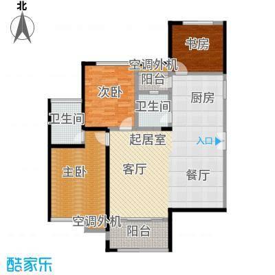 洪客隆英伦联邦92.37㎡5#-9#楼三房C户型3室2厅2卫1厨户型3室2厅2卫