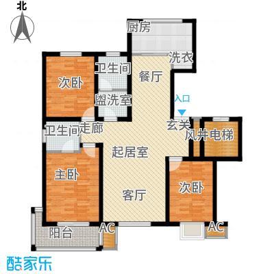 金潞苑金潞苑户型图三室二厅二卫(4/7张)户型10室