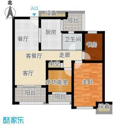 上书房89.00㎡上书房35栋B户型2室2厅1卫