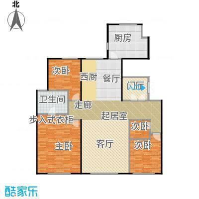 天润・香墅湾1号190.00㎡I户型4室1卫1厨