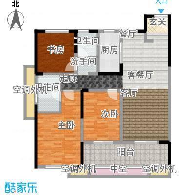 新城帝景110.00㎡110平米3房2厅2卫户型3室2厅2卫