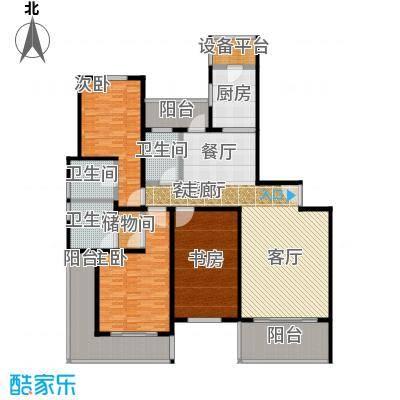 东鼎名人府邸201.00㎡C1户型图户型3室2厅3卫