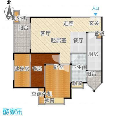 汇锦城88.00㎡E4户型两室两厅一卫户型2室2厅1卫
