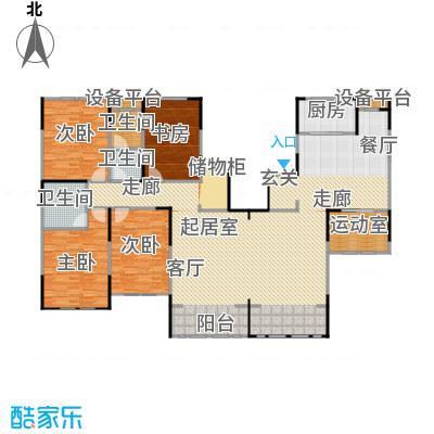 融侨观邸218.00㎡F户型四室三厅二卫户型4室3厅2卫