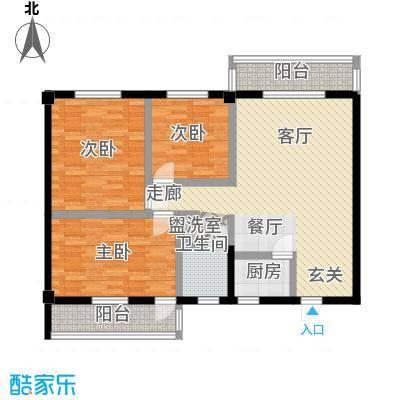 太子花苑101.00㎡2号楼C户型3室2厅1卫