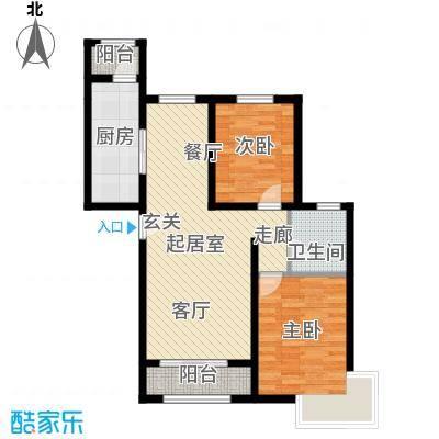 东方晨曲花苑104.15㎡C户型2室2厅1卫QQ