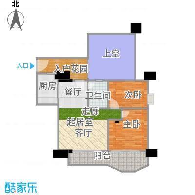 幸福立方14-21层01单元户型2室1卫1厨