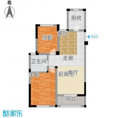 金美林花园94.00㎡D4户型2房2厅1卫94平米户型2室2厅1卫