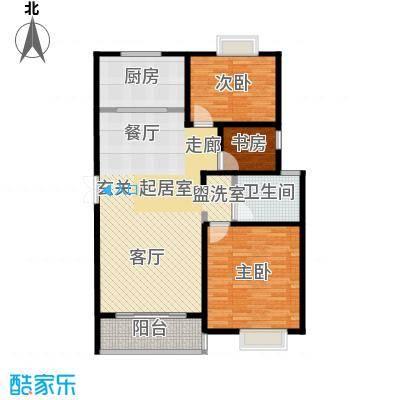 新城府翰苑104.22㎡三房二厅一卫-104.22平方米-66套户型