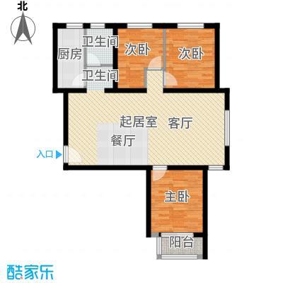 世纪龙庭二期109.00㎡K户型3室2厅1卫