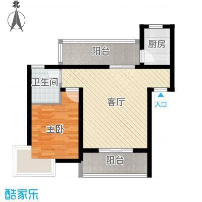 立立依山郡9号楼A栋6-16-2B栋6-户型1室1厅1卫1厨