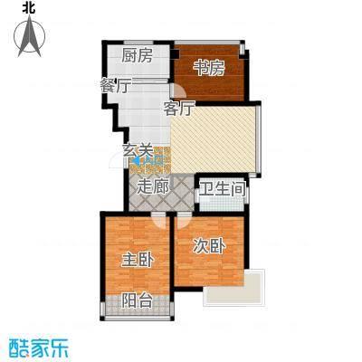 凤凰名城-户型3室1厅1卫1厨
