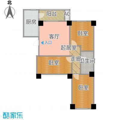 南山学府4号楼三单元 三室两厅一卫 99.71平米户型3室2厅1卫