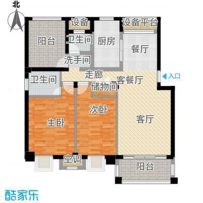 新宇拉菲公馆104.00㎡D2户型2室2厅2卫